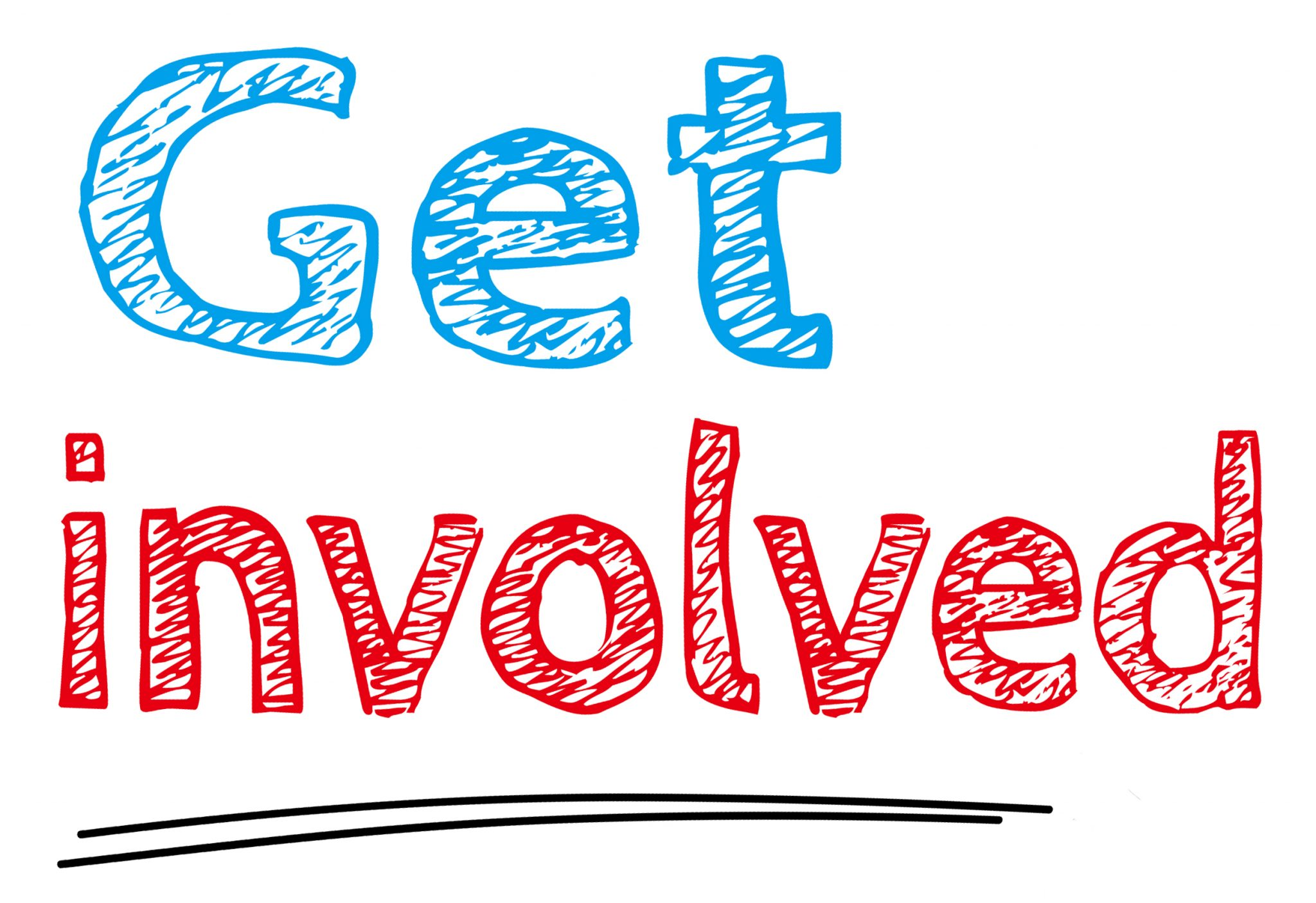 picture saying get involved